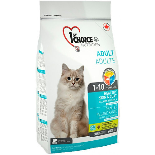1st Choice Healthy Skin & Coat Чойс Корм для кожи и шерсти кошек на лососе