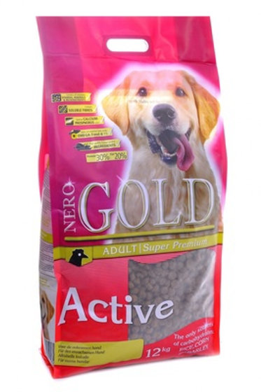 NERO GOLD super premium для активных собак, с курицей и рисом