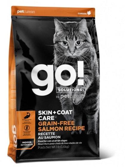 GO grain-free skin+coat salmon cat Гоу беззерновой для котят и кошек, с лососем