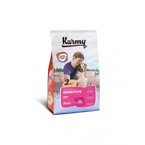 Karmy Sensitive Mini Карми для собак мелких пород с чувствительным пищ. лосось