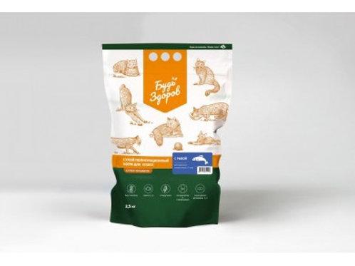 Живая сила сухой полнорационный корм для взрослых кошек с 1 года, с рыбой