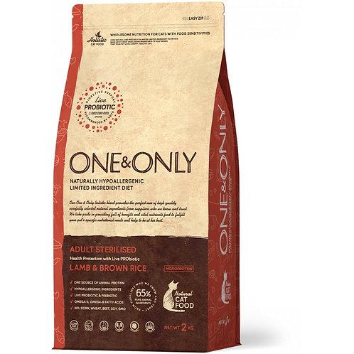One&Only Lamb & Rice Adult Sterilised Ван энд Онли Сухой низкозерновой корм для