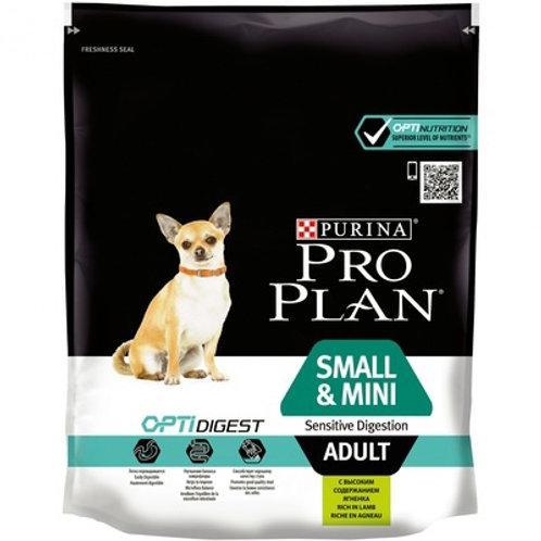 Purina Pro Plan для взрослых собак малых пород с чувствительным пищев. ягненок