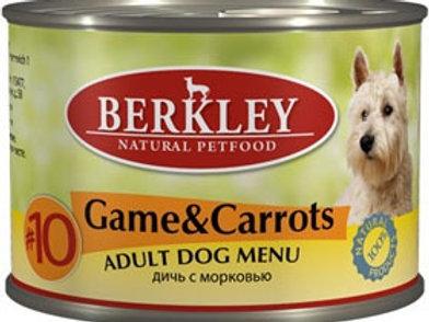 Berkley консервы для собак с дичью (олениной) и морковью