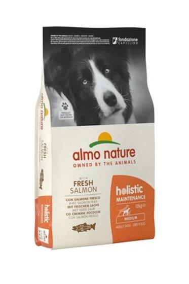 Almo Nature для взрослых собак, с лососем