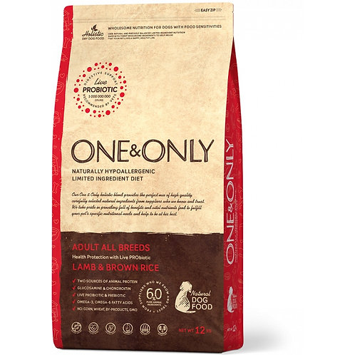 One&Only Lamb & Rice Adult All Breeds Ван энд Онли Сухой низкозерновой корм для