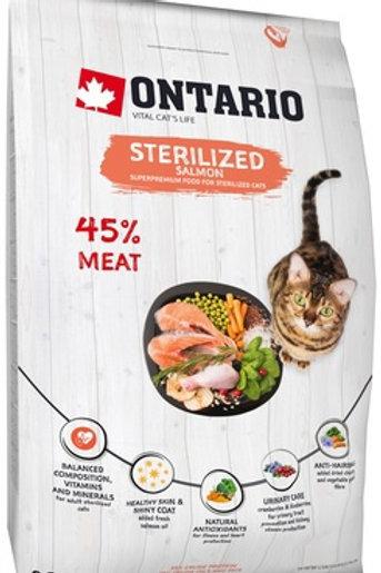 Ontario для стерилизованных кошек, с лососем