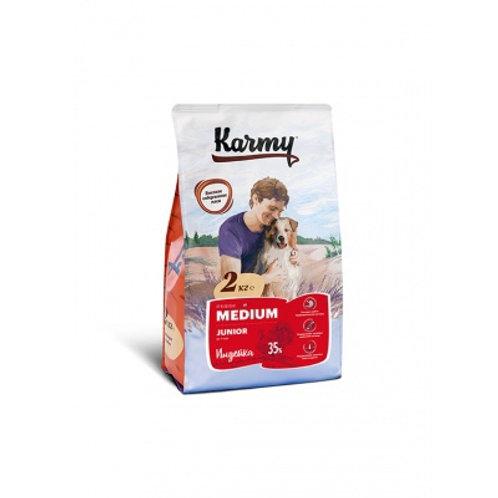 Karmy Medium Junior Карми Сухой корм для щенков средних пород с индейкой