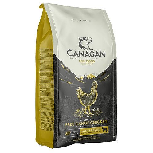 Canagan GF Free-Run Chicken Large Корм для собак крупных пород с цыпленком