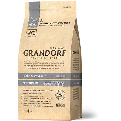 Grandorf Rabbit & Rice Adult Sterilized Карми Корм для стерилизованных кошек с к