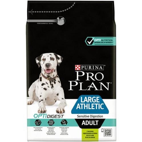 Purina Pro Plan для собак крупных пород атлетически сложенных с чувс. пищ. ягнен
