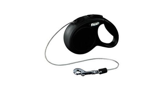 flexi рулетка-трос для собак до 8кг, 3м, черная