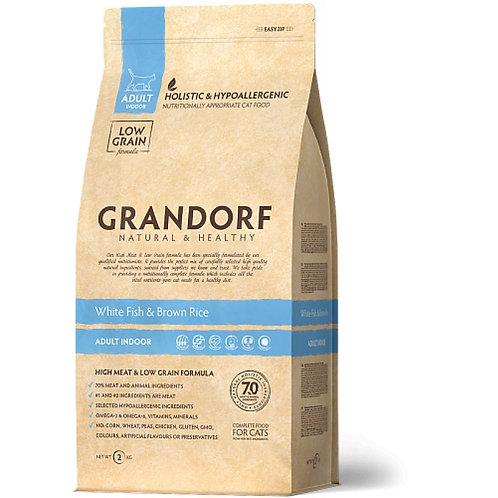 Grandorf White Fish & Potato Adult Sensitive Карми Корм для взрослых кошек с бел