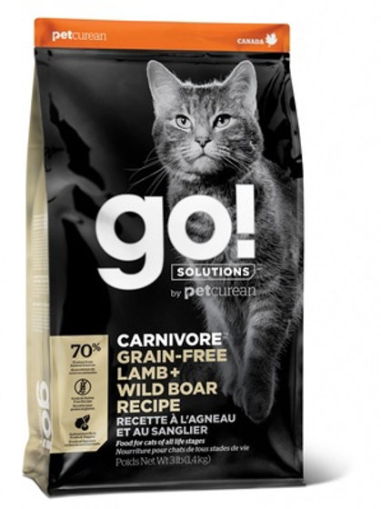 GO grain-free lamb wild boar Гоу беззерновой корм для котят и кошек, с ягненком