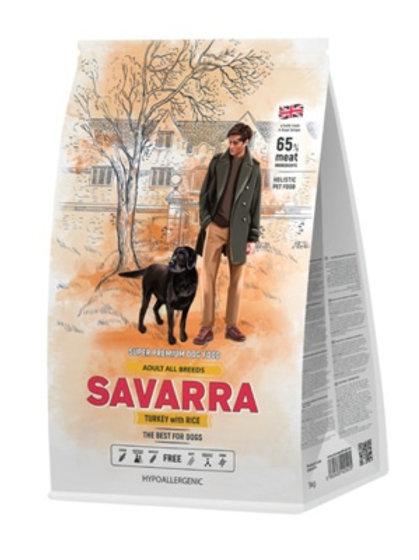 Savarra гипоаллергенный для взрослых собак всех пород, с индейкой и рисом