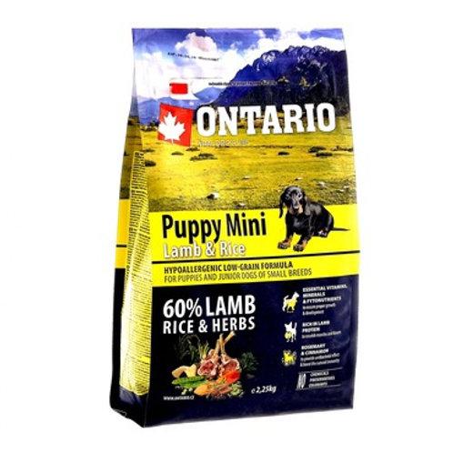 Ontario для щенков малых пород с ягненком и рисом