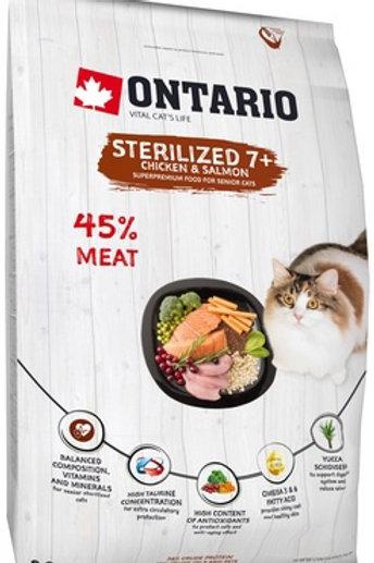 Ontario для пожилых стерилизованных кошек, с курицей, Ontario Cat Sterilised 7+