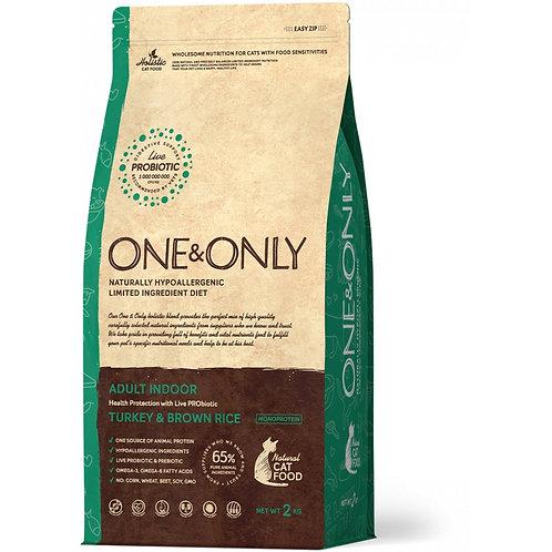 One&Only Turkey & Rice Adult Indoor Ван энд Онли Сухой низкозерновой корм для до