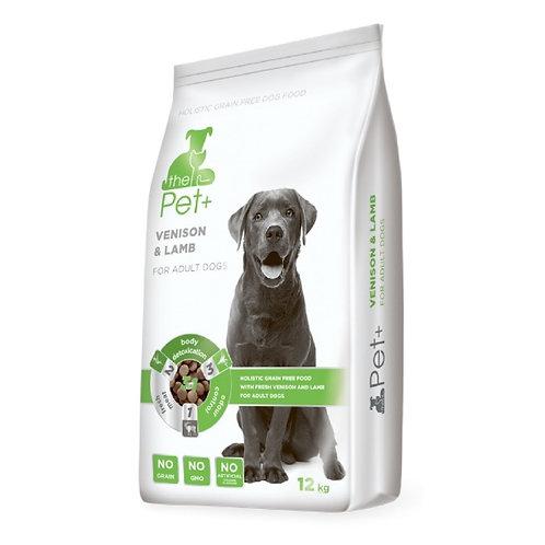 The Pet+ беззерновой корм для собак со свежим мясом дичи и ягнёнка