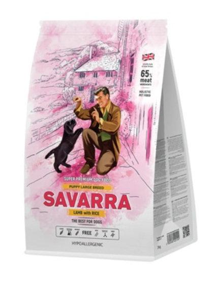 Savarra гипоаллергенный для щенков крупных пород, с ягнёнком и рисом