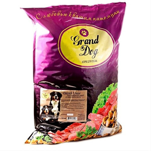 Grand Dog Ostrich Junior Страус для щенков всех пород