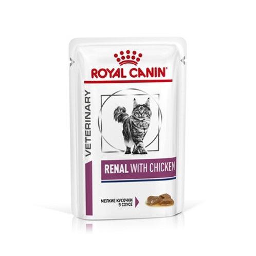 Royal Canin renal with chiken кусочки в соусе при лечении почек, с курицей