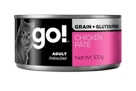 GO Гоу консервы беззерновые с курицей для кошек, паштет