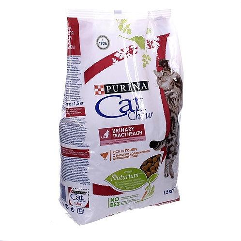 Cat Chow urinary для кошек для профилактики мочекаменной болезни  с дом. птицей