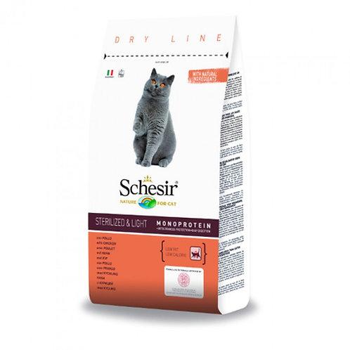 Schesir Sterilized And Light Облегченный для стерилизованных котов с курицей