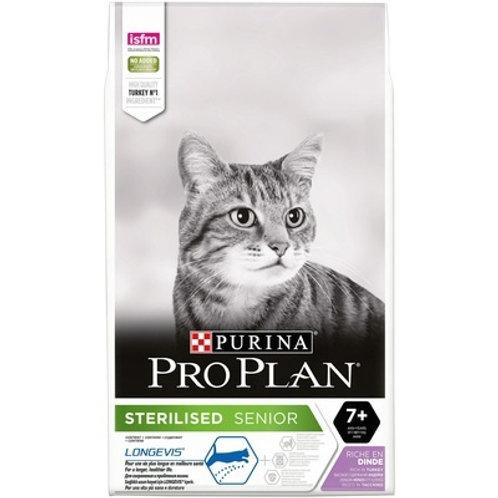 Purina Pro Plan для стерилизованных кошек старше 7 лет, с высоким содер. индейки