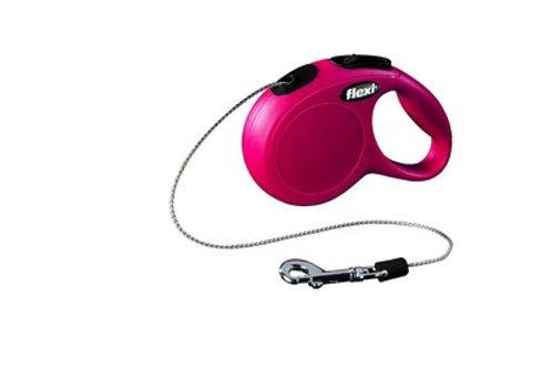 flexi рулетка-трос для собак до 8кг, 3м, красная