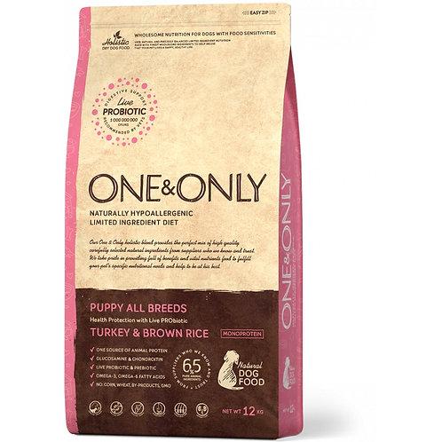 One&Only Turkey & Rice Puppy All Breeds Ван энд Онли Сухой низкозерновой корм дл