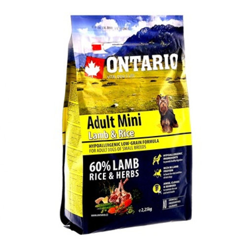 Ontario для собак малых пород, с ягненком и рисом