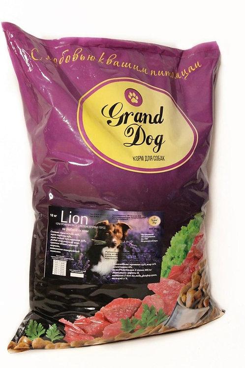 Grand Dog Lion с рыбой для крупных и средних пород (Премиум)