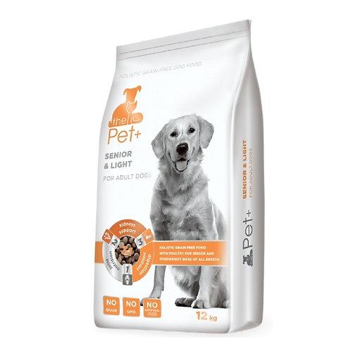 The Pet+ беззерновой корм с мясом домашней птицы для пожилых и тучных собак