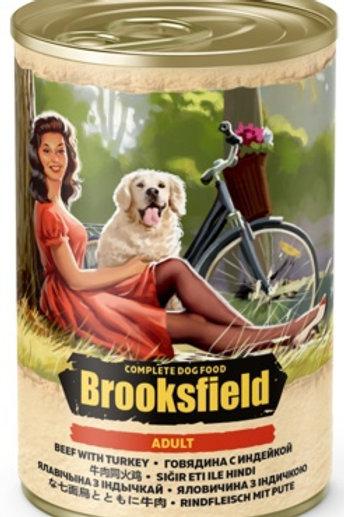 Brooksfield корм для собак, с говядиной индейкой и рисом
