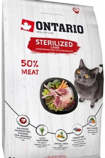 Ontario для стерилизованных кошек, с ягненком
