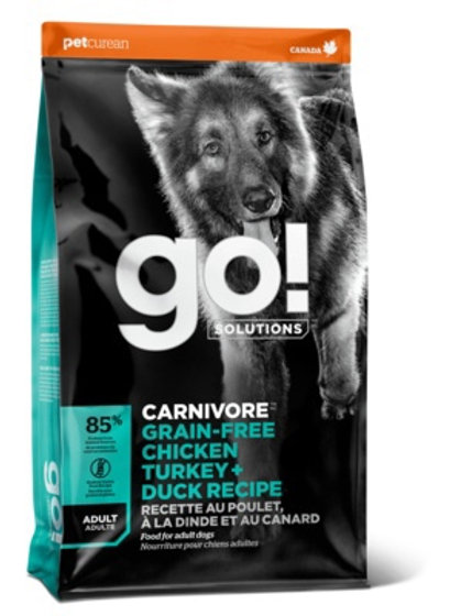 Go carnivore grain-free chicken turkey+duck recipe Гоу для взрослых Собак всех п