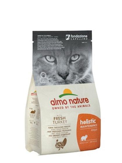 Almo Nature для взрослых кошек, с индейкой