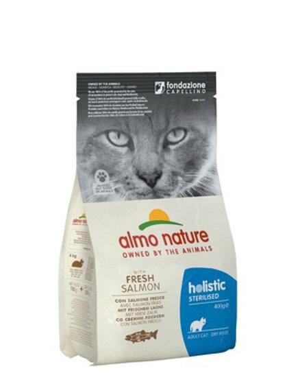 Almo Nature для кастрированных кошек, с лососем и рисом