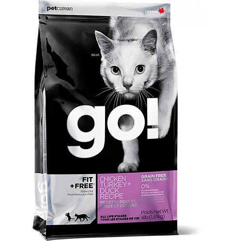 Go Natural Fit Free Chicken, Turkey & Duck Cat Гоу Корм для котят и кошек беззер