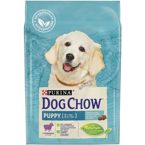 Dog Chow puppy lamb для щенков средних пород, с ягненком