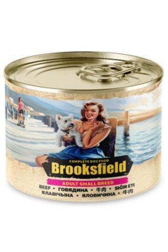 Brooksfield  корм для собак малых пород, с говядиной и рисом