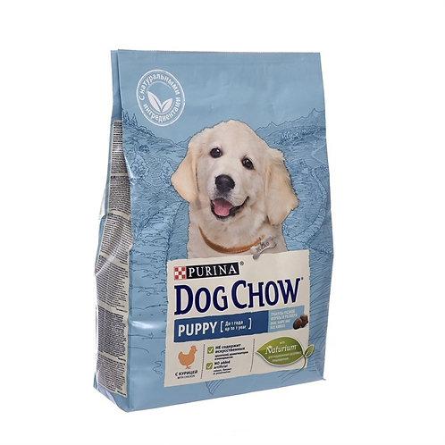 Dog Chow puppy chiken для щенков средних пород, с курицей