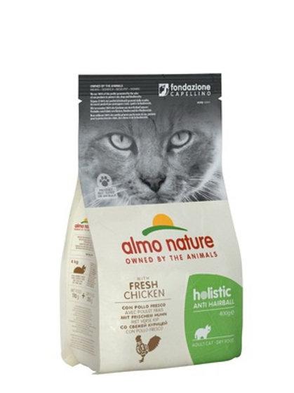 Almo Nature для кошек: контроль вывода шерсти, с курицей и рисом