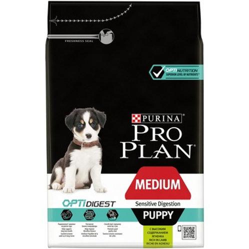 Purina Pro Plan для щенков средних пород с чувствительным пищеварением ягненок