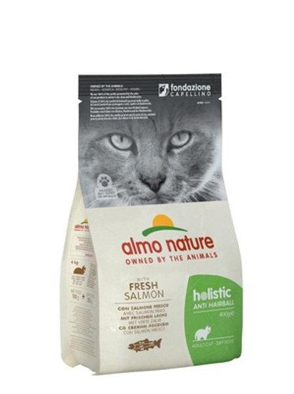 Almo Nature для кошек: контроль вывода шерсти, с лососем