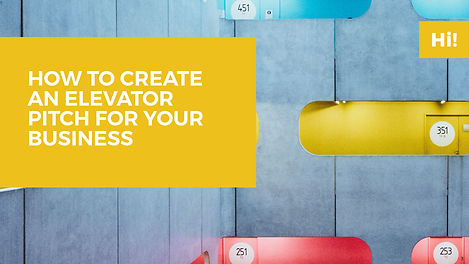 Workshop How to create an elevator pitch