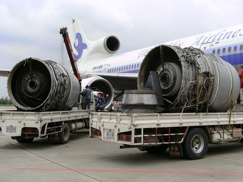 Scrap RB211-22B Jet Engines About to be Recycled.