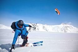 Snow kite Alaska